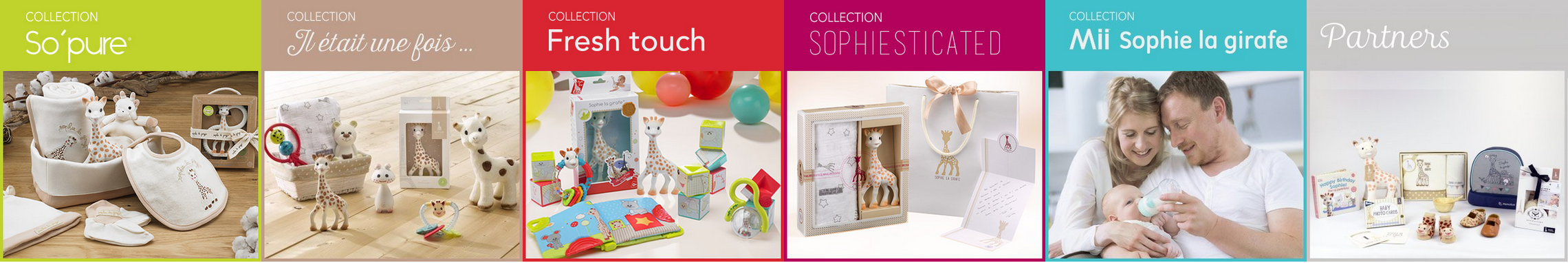 Sophie la girafe collecties